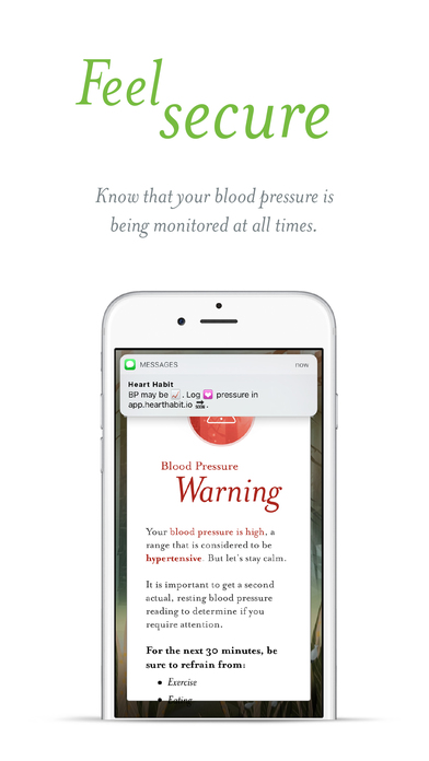Instant Blood Pressure Companion Apps free for iPhone/iPad screenshot