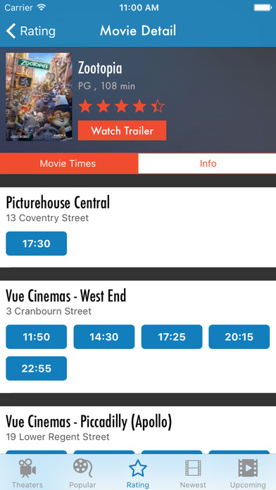 Showtimes - Movie Times & Trailers Screenshots