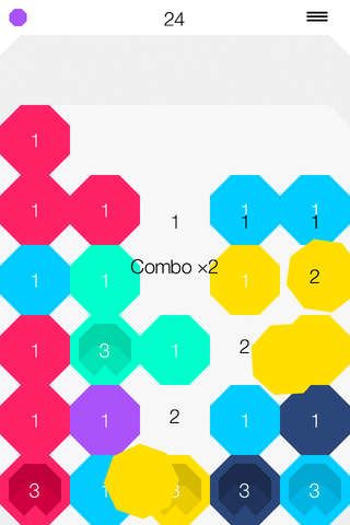 Matchagon - a minimalistic Drop Block Puzzle screenshot 2