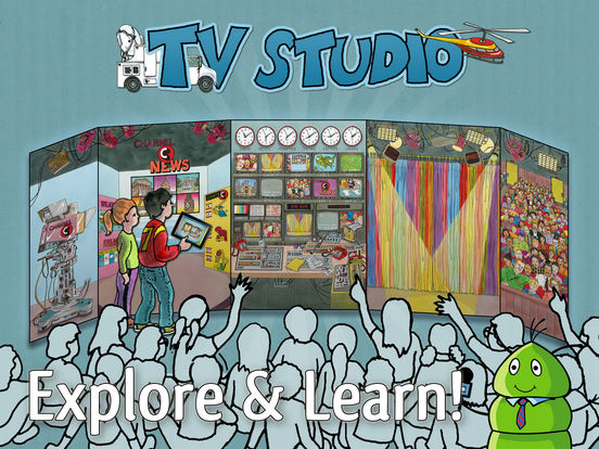 K.I.W.i. Storybooks - TV Studio iPad Screenshot 1