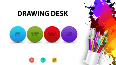 Screenshots of Drawing Desk - Draw, Paint, Doodle & Sketch board for iPhone