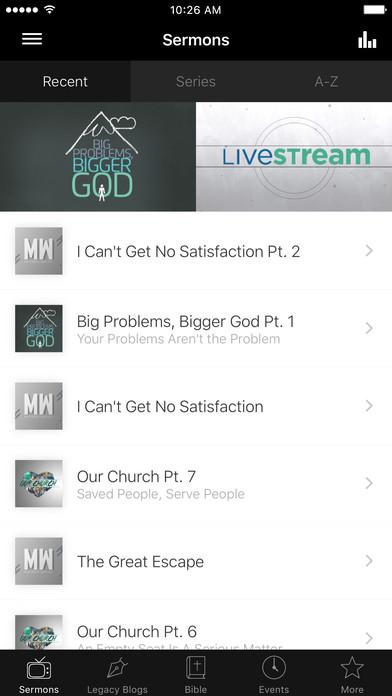 Legacy Church New Mexico iPhone Screenshot 1