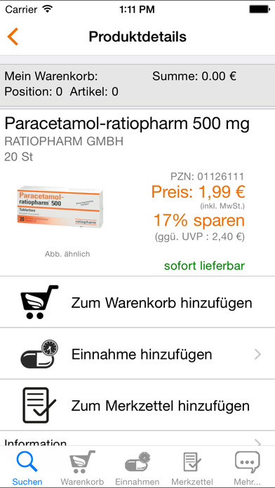 Apotheke iPhone Screenshot 2