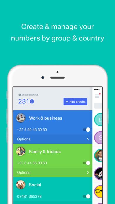 onoff App - Multiple, Private Phone Numbers app image
