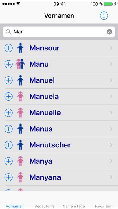 Firstname iPhone Screenshot 1