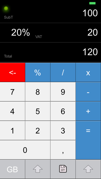 VAT CALC 2011 iPhone Screenshot 1