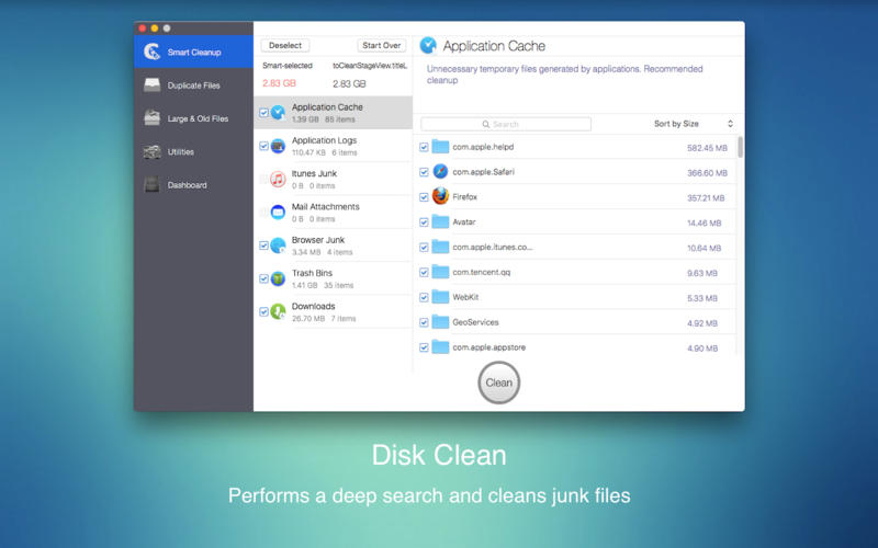 how to clean up mac os x hard drive