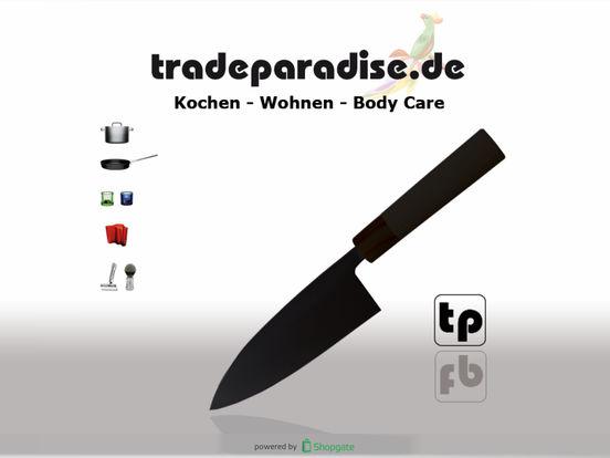 tradeparadise.de - Ihr Shop rund ums Kochen, Lifestyle, Design und Beauty iPad Screenshot 1