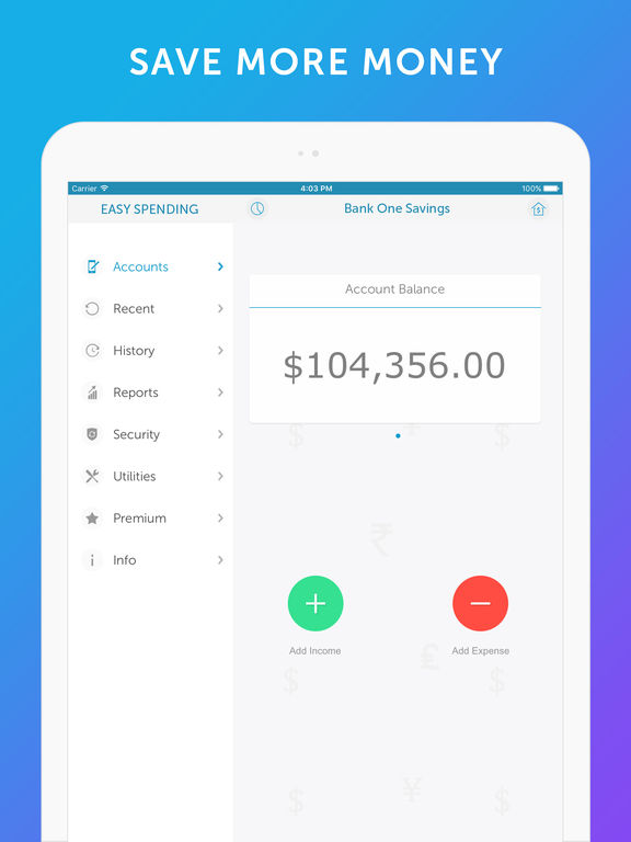 Screenshot #5 for Easy Spending - Money Tracker & Budget Planner