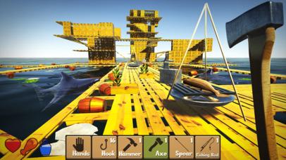 Raft Survival Simulator Games free for iPhone/iPad screenshot