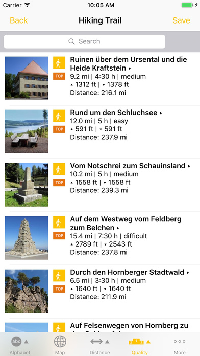 Touren in Baden-Württemberg iPhone Screenshot 3