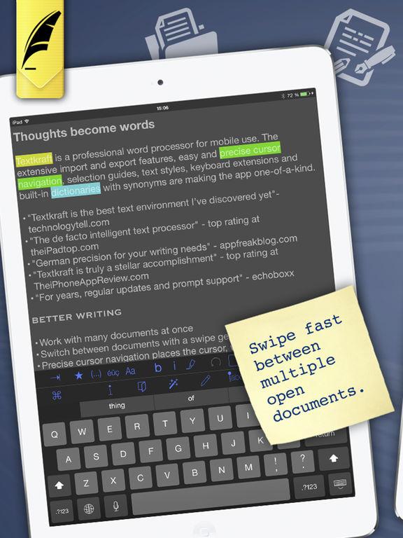 Textkraft with German Dictionary Screenshots