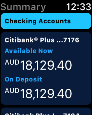 Citibank AU iPhone Screenshot 6
