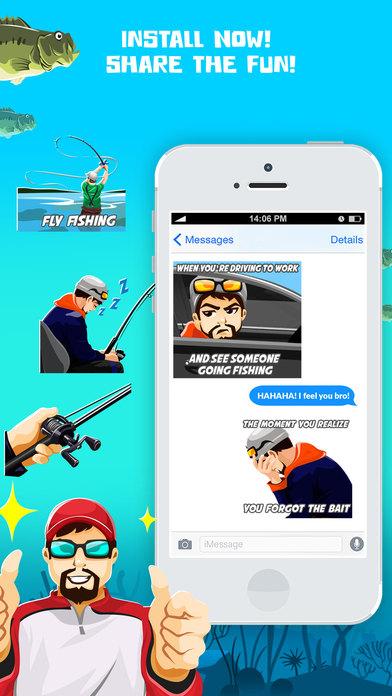 Bassmoji pro bass fishing emoji stickers pro app for Bass fishing apps