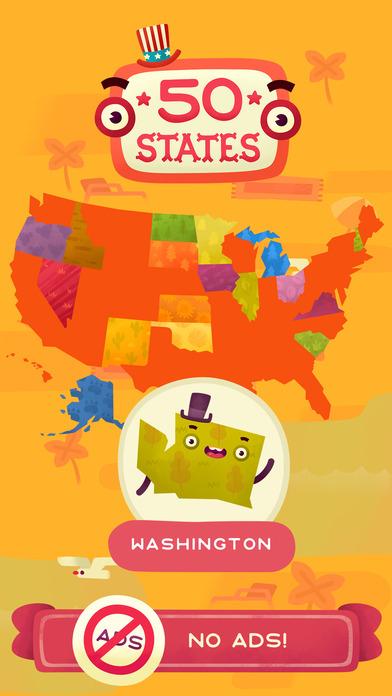 50 States (Ad Free) screenshot 1