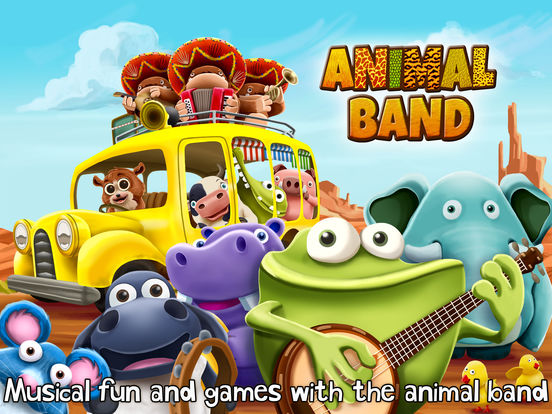 Band Game Toy : App shopper animal band free interactive music toy games