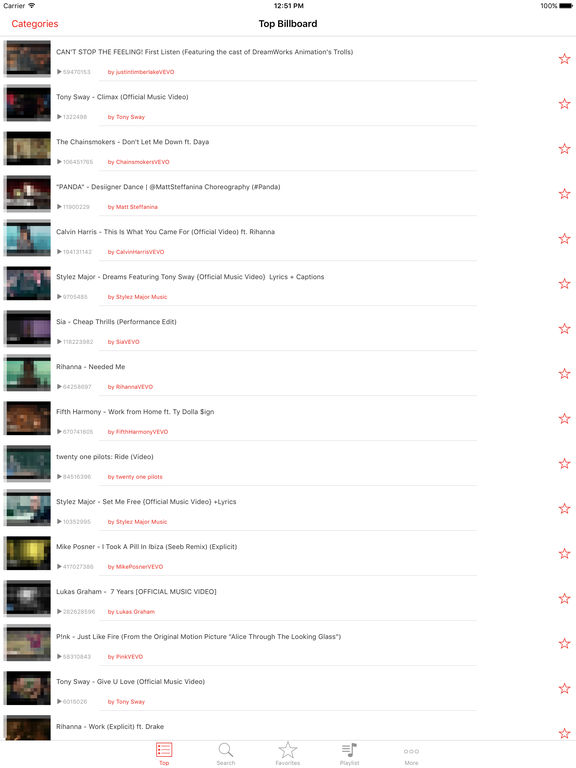 Screenshots of Free Music - Unlimited Songs Player For YouTube for iPad
