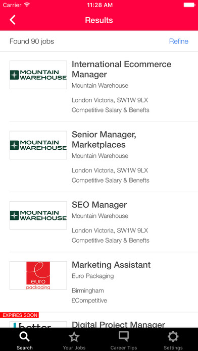 Econsultancy Jobs screenshot