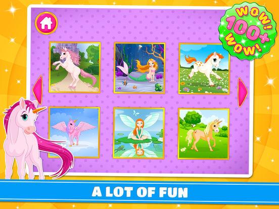 Cute Ponies & Unicorns Puzzles : Logic Game