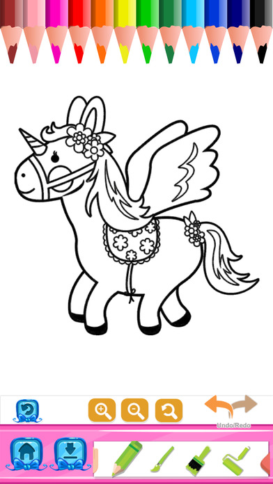 Princess Coloring Book Draw Paint For Kids Adult On The App Store
