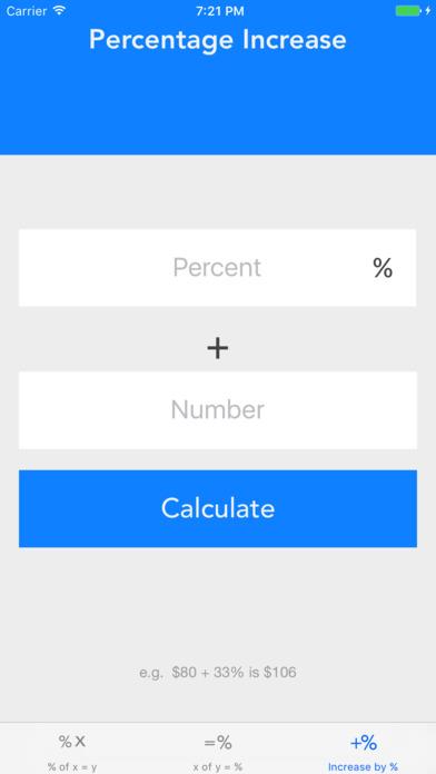 My Percentage screenshot 1