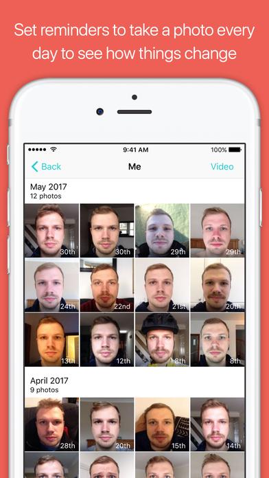 Dayli - Everyday photo journal & timelapse creator Screenshots