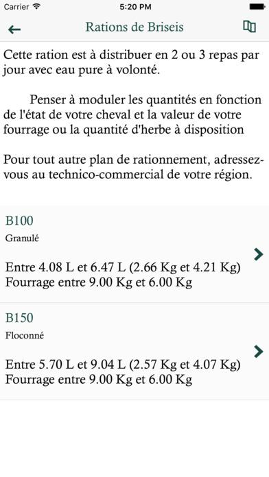 Royal Horse - Calcul de ration cheval screenshot
