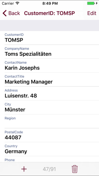 DB2 Mobile Database Client Screenshots