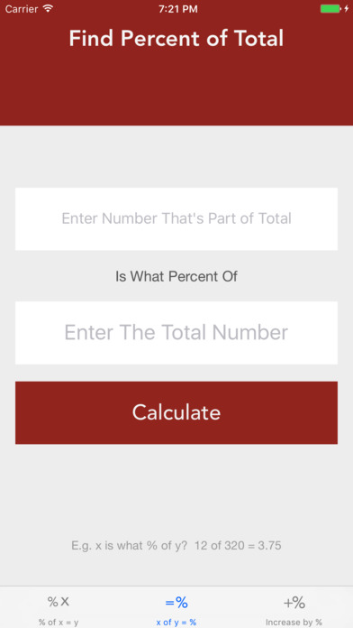 My Percentage screenshot 2