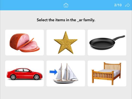 Screenshot #5 for Word Families by Teach Speech Apps