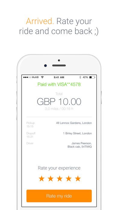 Taxiapp UK Скриншоты7