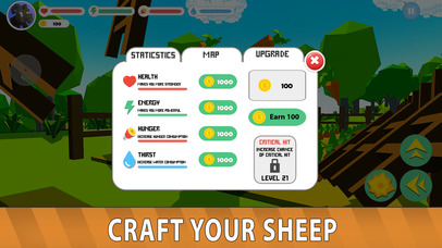 Blocky Sheep Farm 3D Full screenshot 4