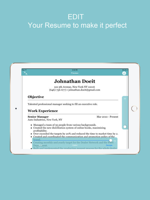 resume builder quick cv designer with templates on the