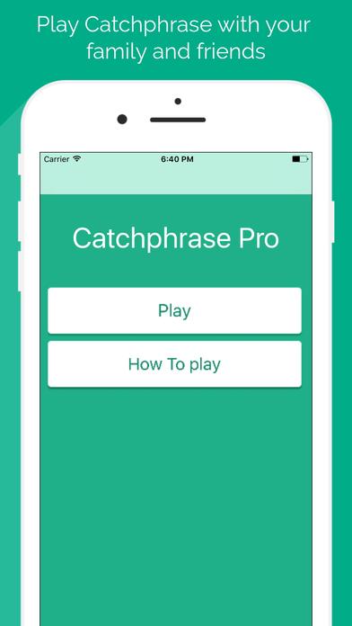 Catchphrase Pro screenshot 1