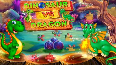 Dinosaur vs dragon: Puzzle screenshot 1