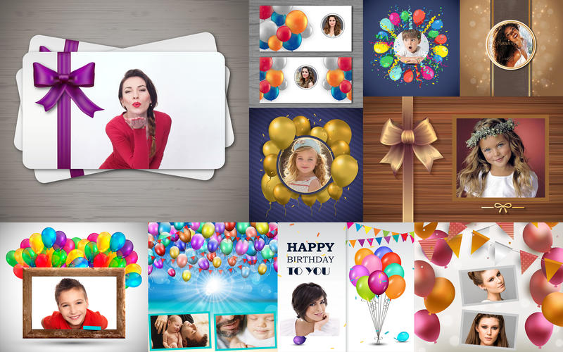 ArtCollage Birthday - Templates for Photoshop for Mac