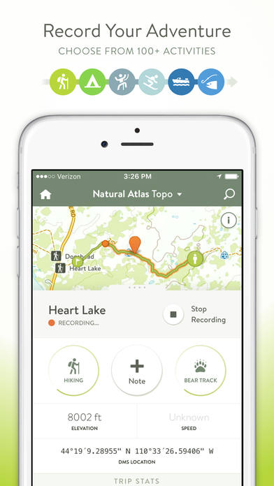 Natural Atlas: Outdoor GPS & Offline Hiking Maps Screenshot