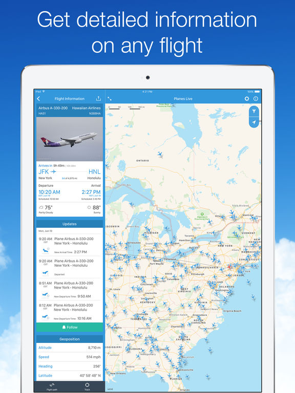 Screenshot #2 for Planes Live - Flight Status Tracker and Radar