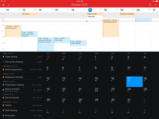 Fantastical 2 for iPad - Calendar and Reminders Screenshots