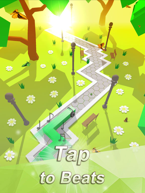 Screenshots of Dancing Line for iPad