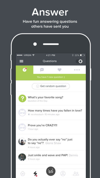 Screenshots of ASKfm for iPhone