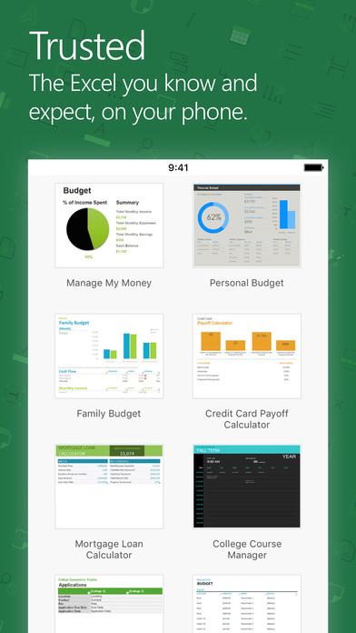 Microsoft Excel Screenshots