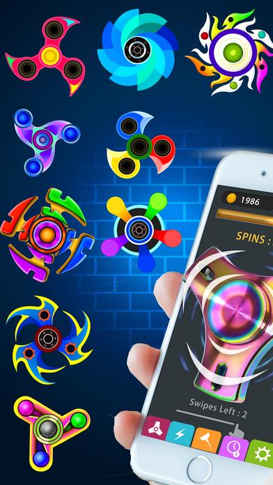 Screenshot 1 Fidget Spinner App-New Tappy Finger hand Simulator