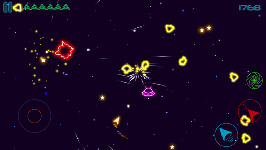 Glow Asteroids Shooter Screenshots