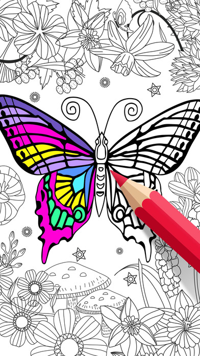 Coloring therapy app shopper adult coloring book color therapy pages - App Shopper Animal Coloring Book For Adults Color