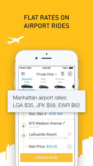 Screenshots of Gett - NYC Black Car for iPhone