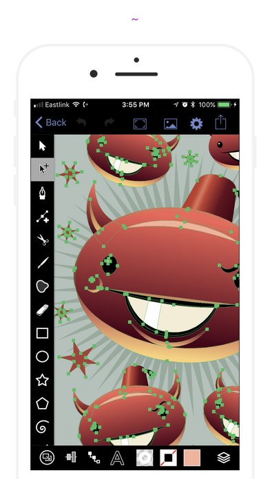 VectorPaper+ - Pro illustrator for iPhone Screenshots