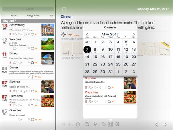 Dailybook Journal / Diary Screenshots