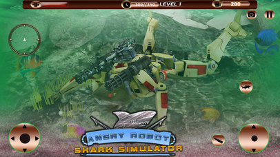 Angry Robot Shark Simulator screenshot 1