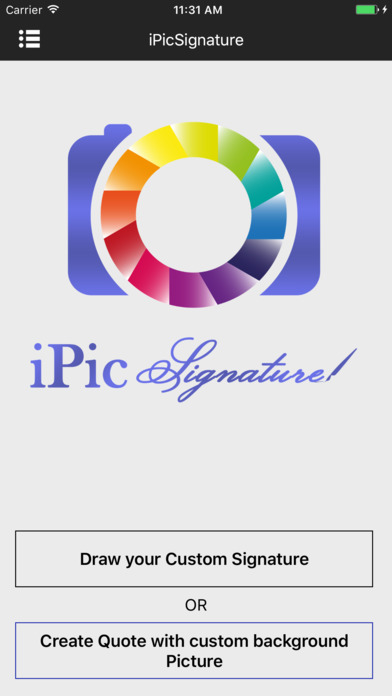 iPicSignature (Digital Signature and Quote Maker) Screenshots